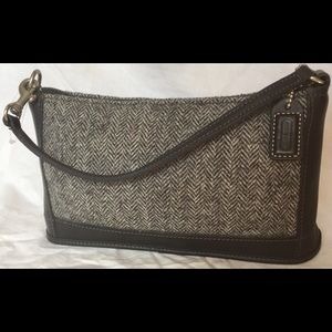 NWOT Coach Designer Tweed Clutch